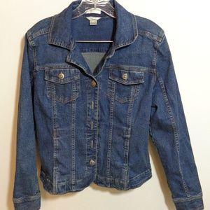 Christopher & Banks Wmn Denim Jean Jacket Size S